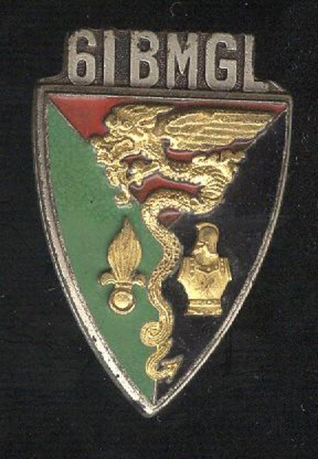 Insigne 61° Bataillon Mixte Génie Légion - Drago Paris - Badges & Ribbons