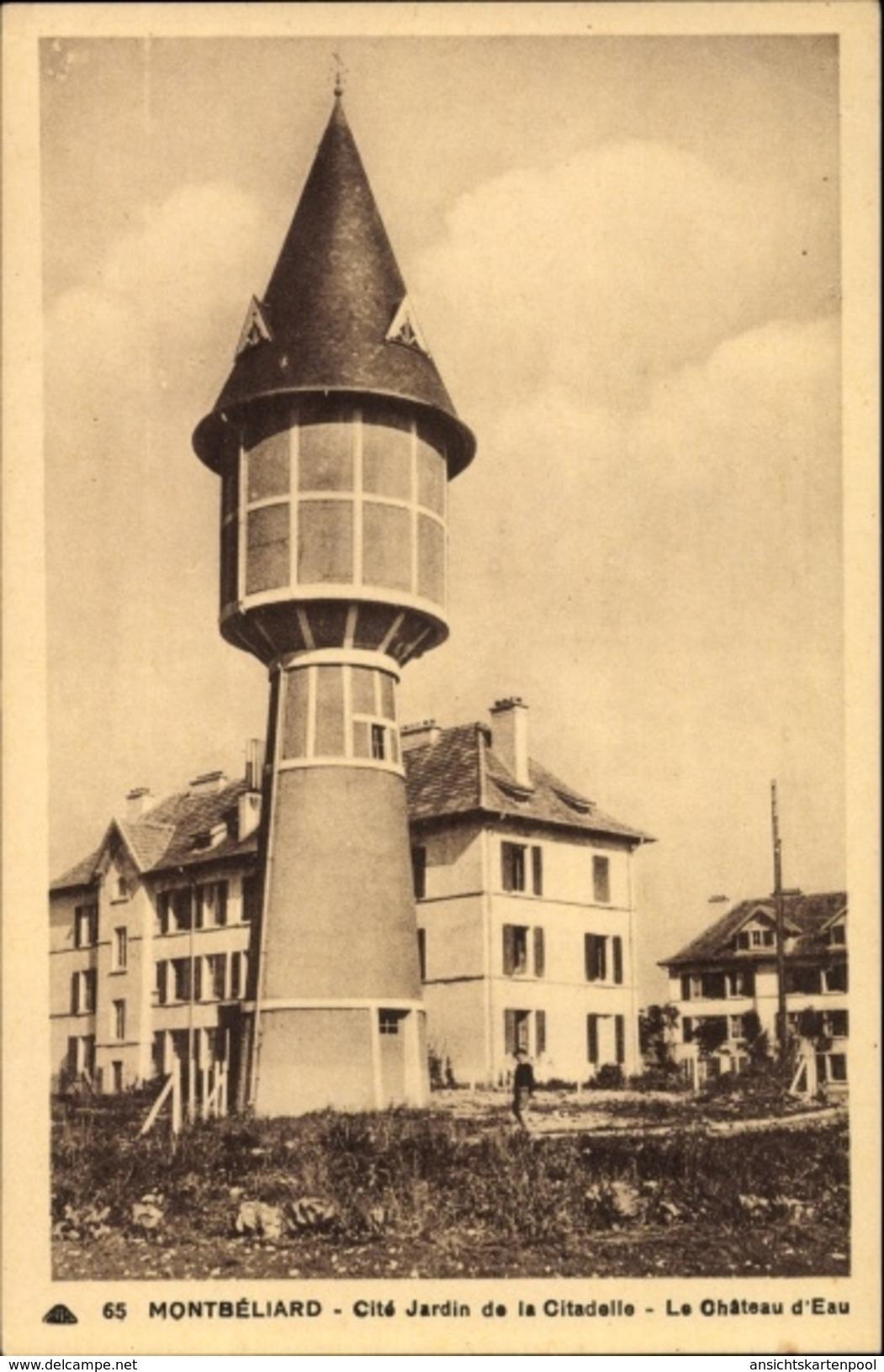 Cp Montbéliard Doubs, Cité Jardin De La Citadelle, Le Château D'Eau, Wasserturm - Autres Communes