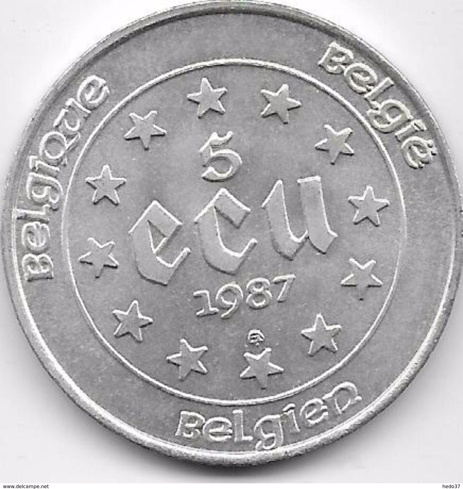 Belgique - 5 Ecus 1987 - Argent - Belgique