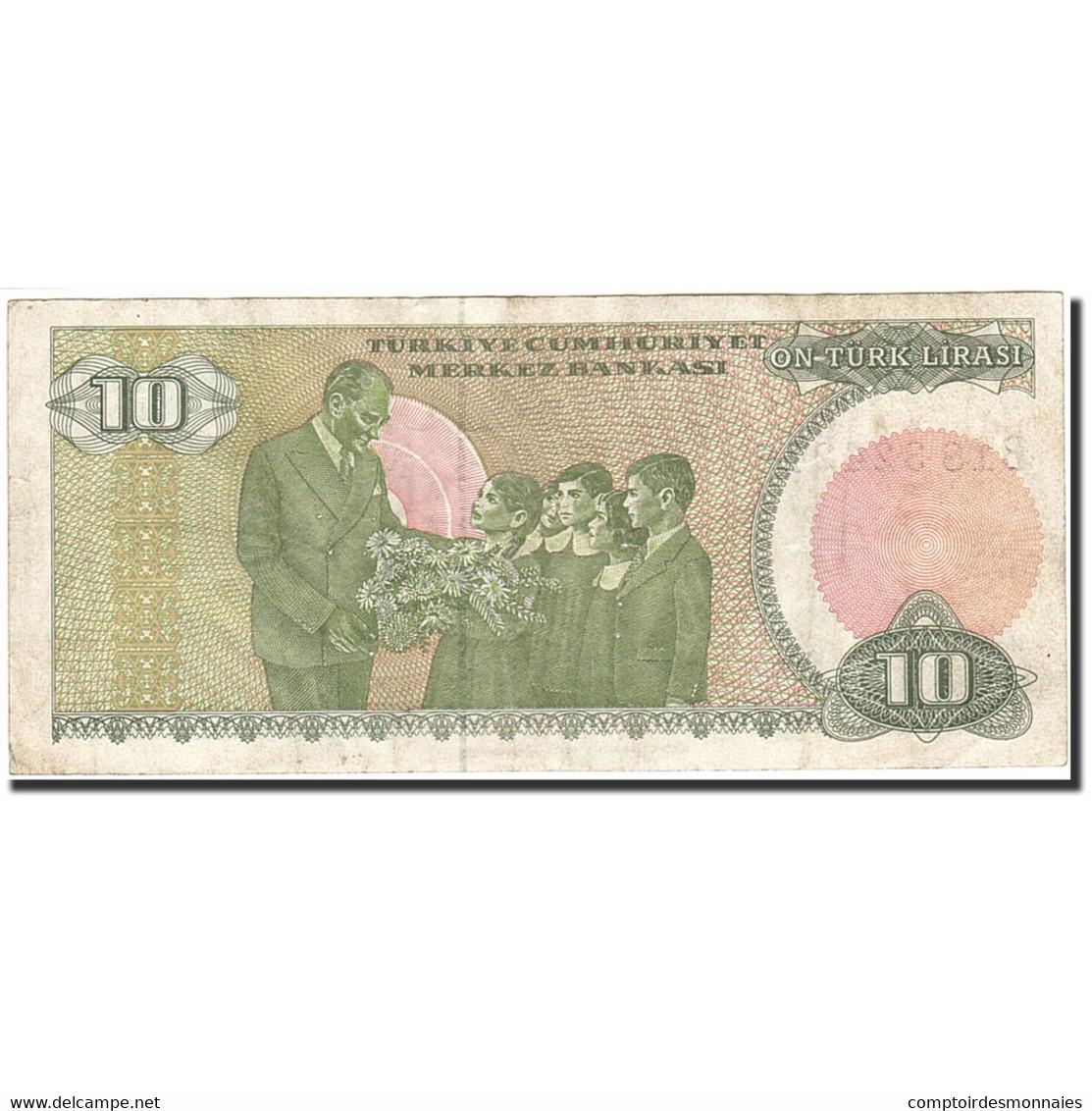 Turquie, 10 Lira, 1984-1997, 1979, KM:192, TTB - Turquie
