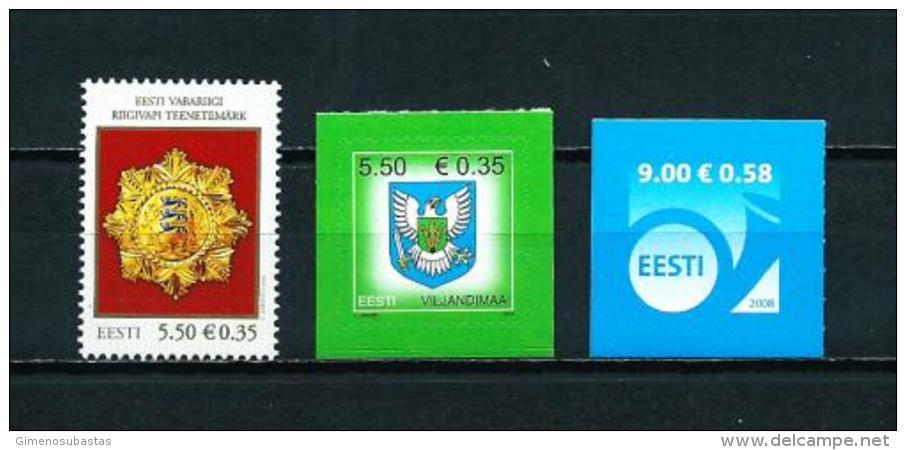 Estonia  Nº Yvert  565/7  En Nuevo - Estonia