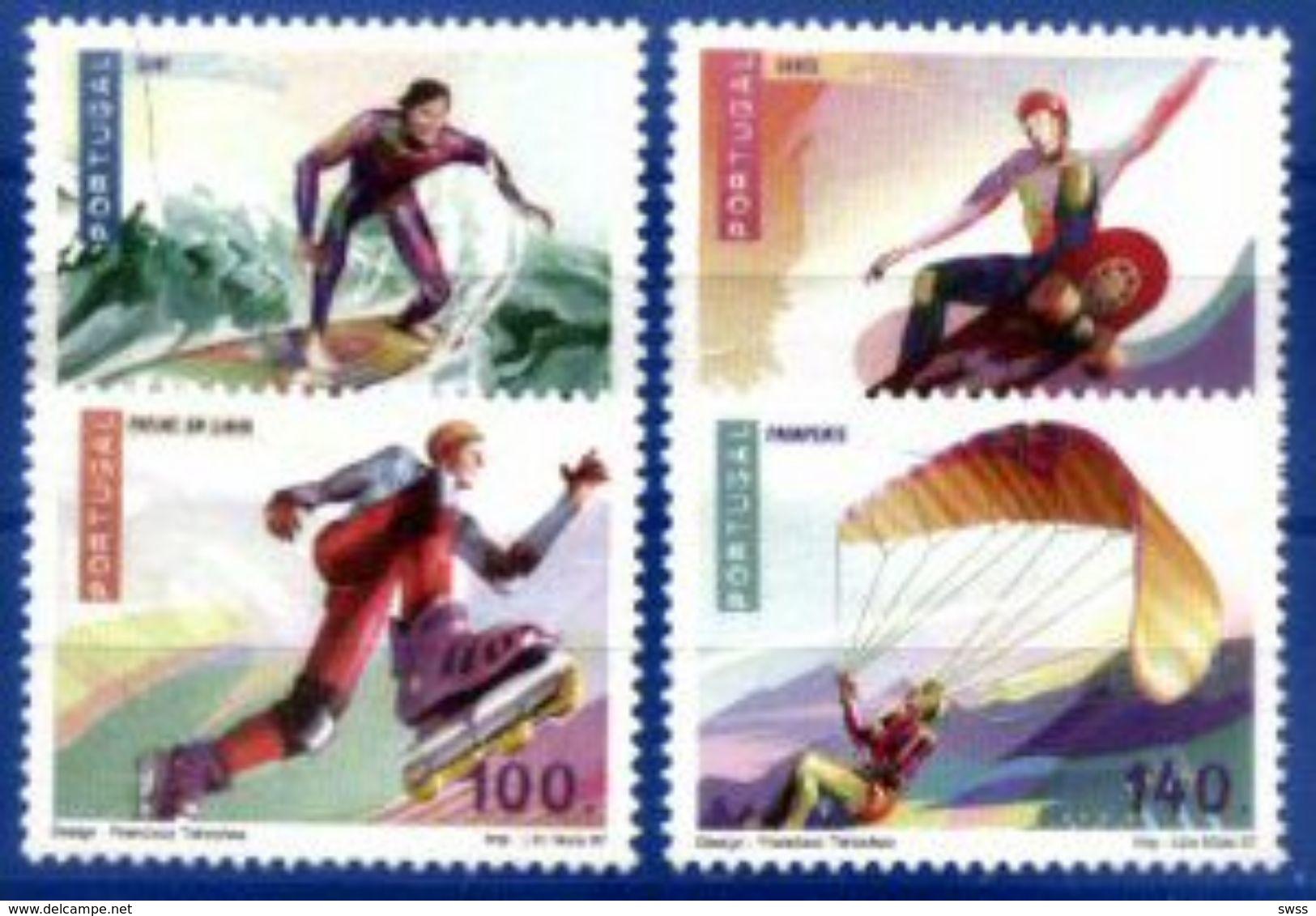 PORTUGAL, 1997, EXTREME SPORTS, CE#2416-19, MNH - Skateboard