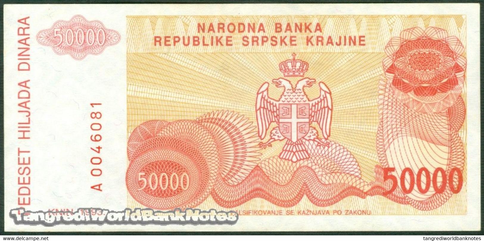 TWN - CROATIA R21a - 50000 50.000 Dinara 1993 AXF - Croatie
