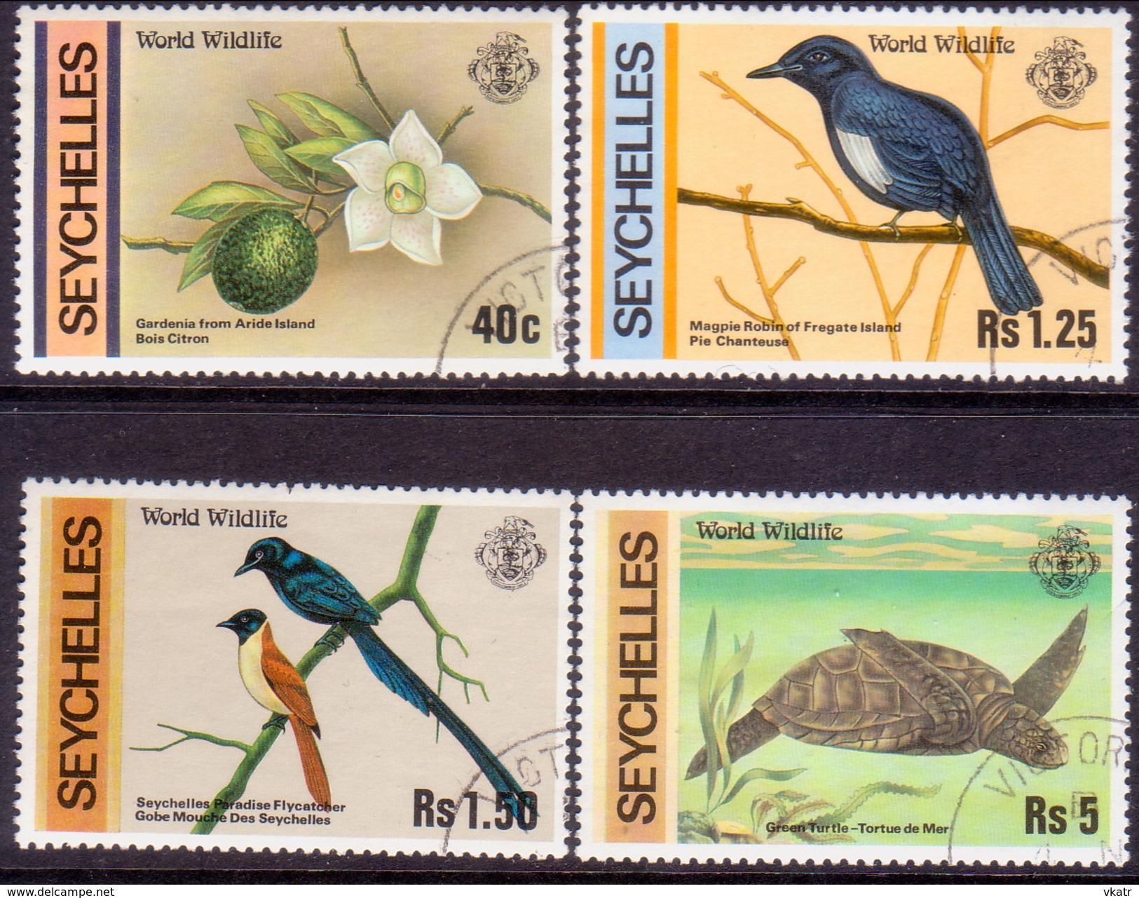 SEYCHELLES 1978 SG #433-36 Compl.set Used Wildlife - Seychelles (1976-...)