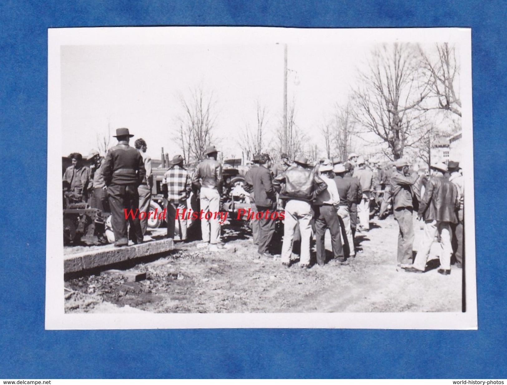 Photo Ancienne - LINCOLN ( Arkansas , USA ) - Exposition De Tracteur John Deere - Agriculture Cow Boy - Métiers