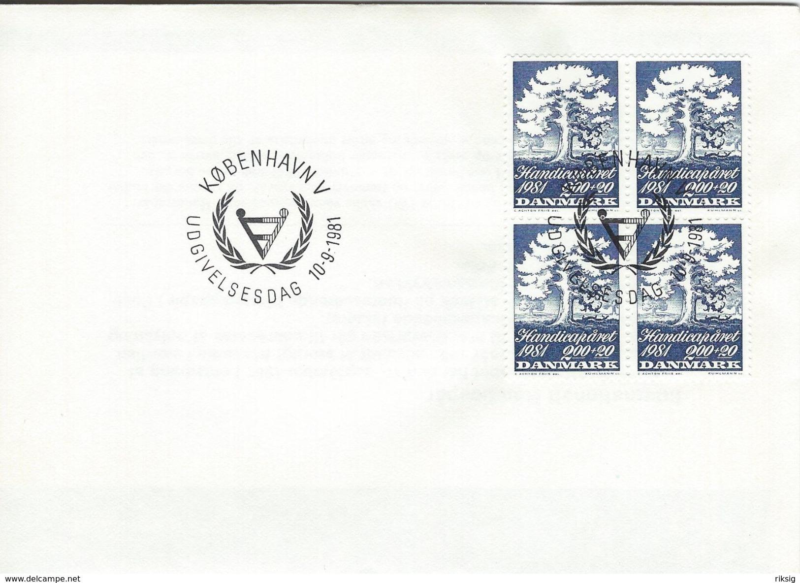 Handicap Year 1981.  Denmark Fdc.   H-1211 - Handicaps