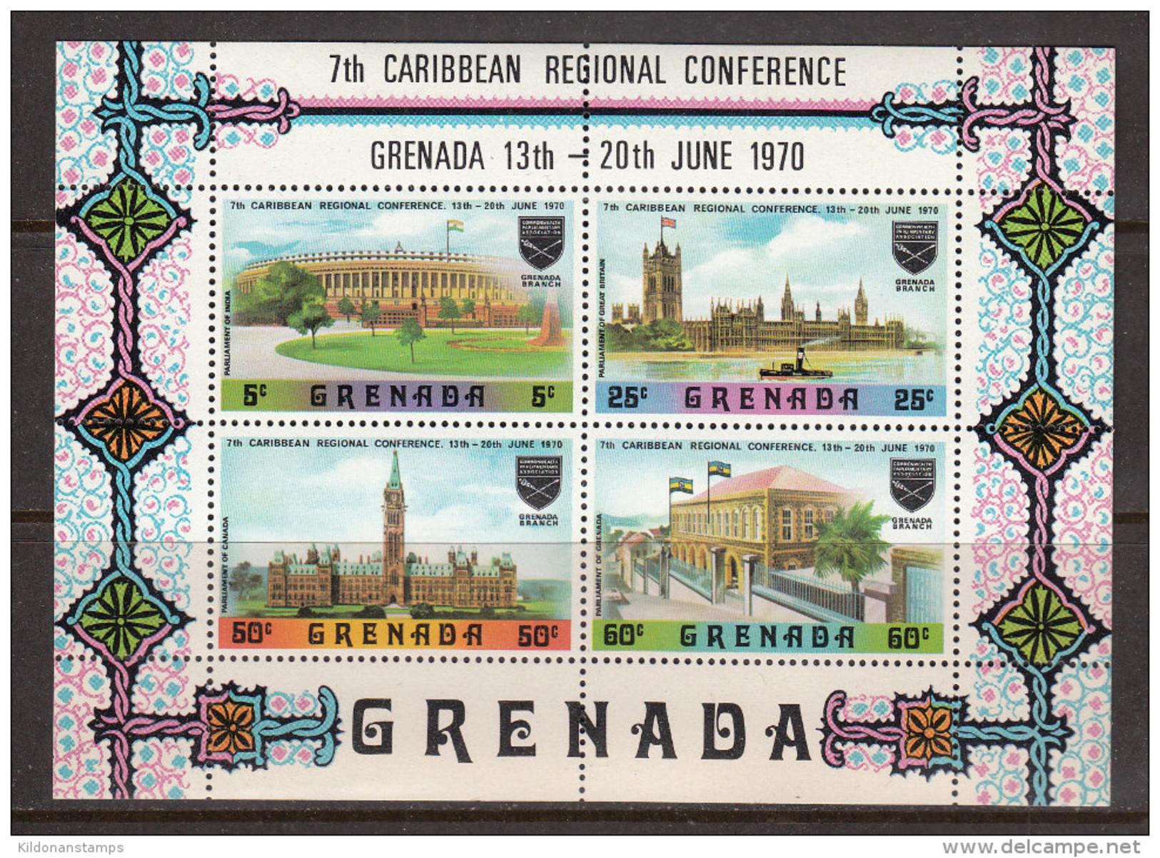 Grenada 1970 Minisheet, 7th Caribbean Conferencemint No Hinge, Sc# , SG - Grenada (...-1974)