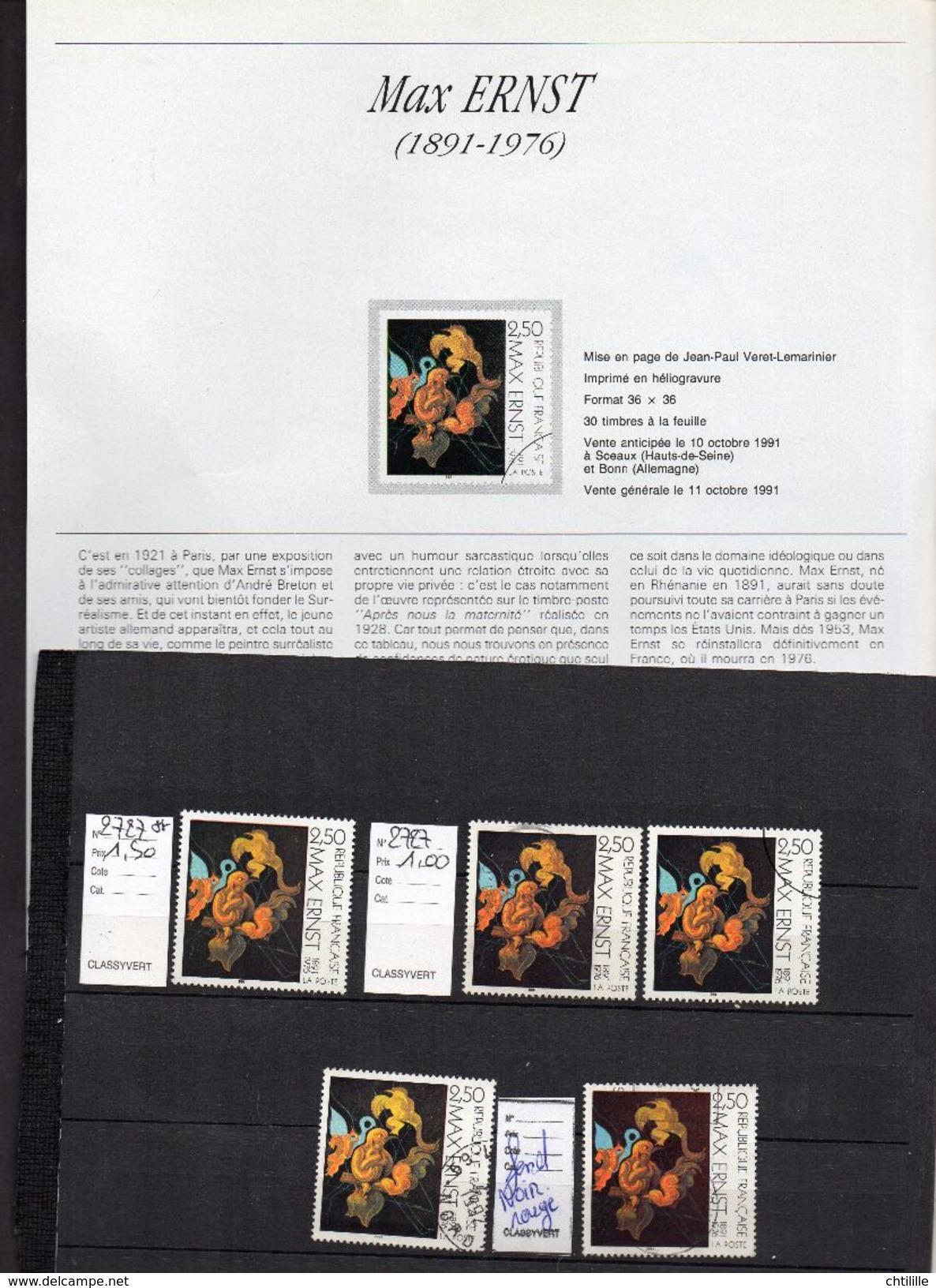 DT06 FRANCE 1 TP NEUF N°2727** + 2 TP OBL + 2 TP VARIETE OBL NUANCES - Frankreich