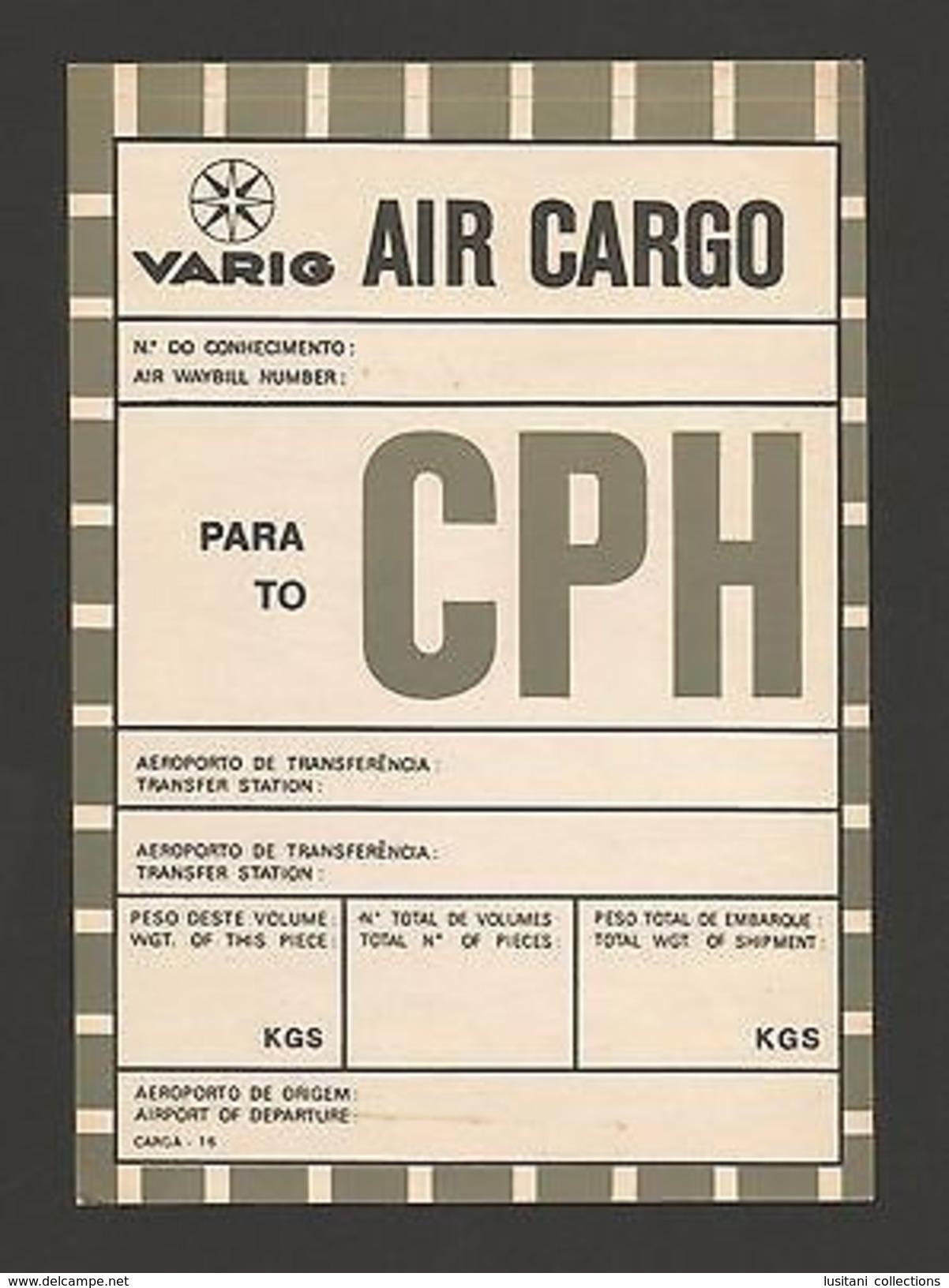 LABEL VARIG AIR CARGO 70s BRASIL BRAZIL To CPH COPENHAGEN DENMARK Airplanes Z1 - Unclassified