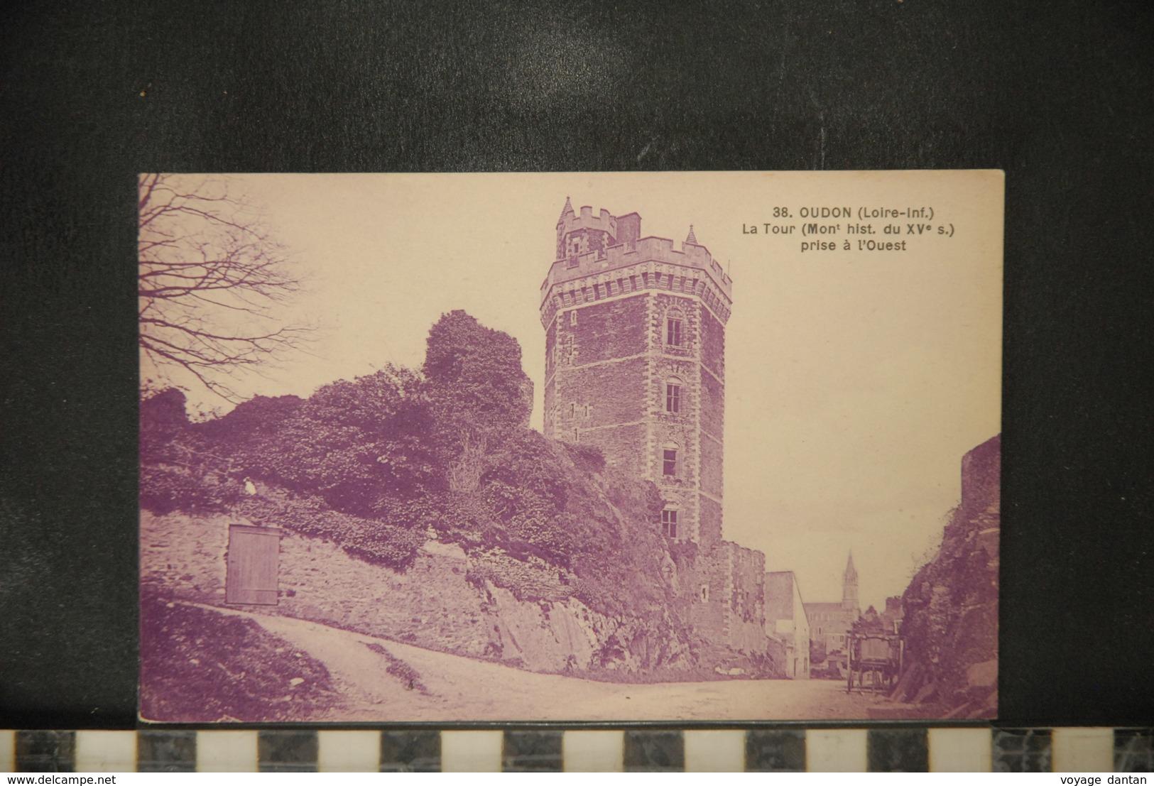 CP, 44, LOIRE ATLANTIQUE - Oudon - La Tour, Prise à L'Ouest - Oudon