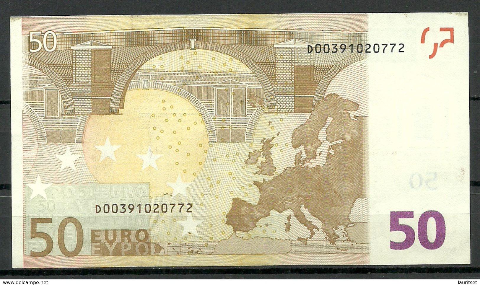 ESTONIA 50 EUR 2002 D-Serie Banknote - 50 Euro
