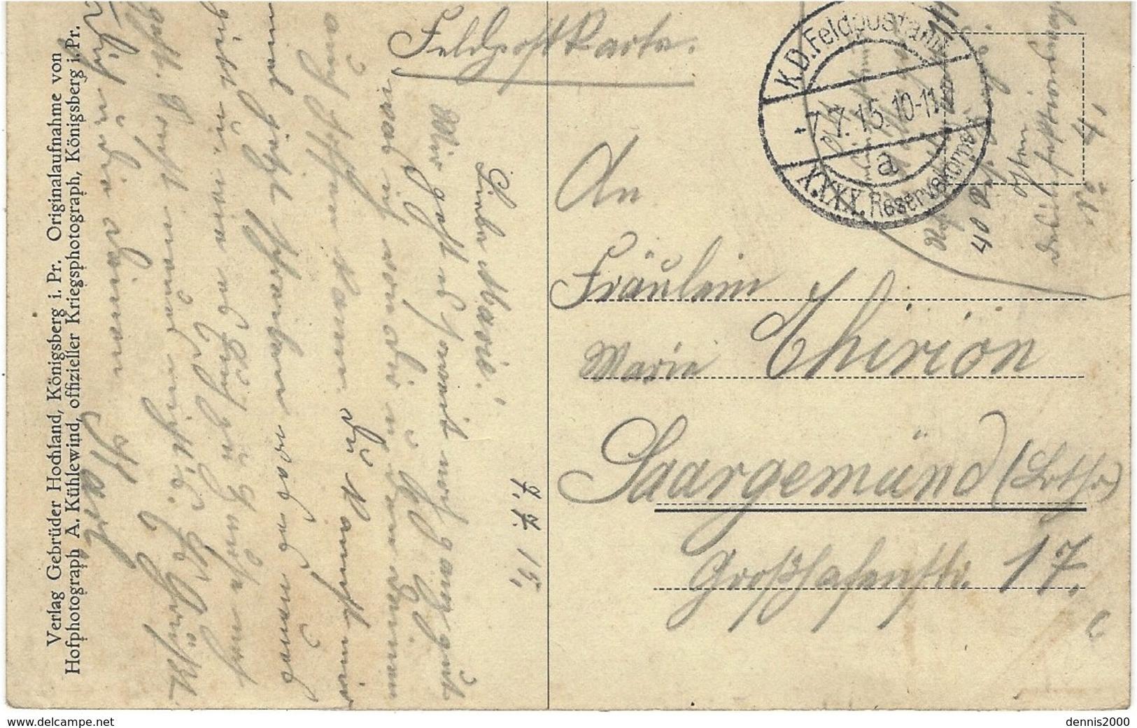 WWI -  Totalansicht Von Mariampol - German Military Post Mark - Litauen