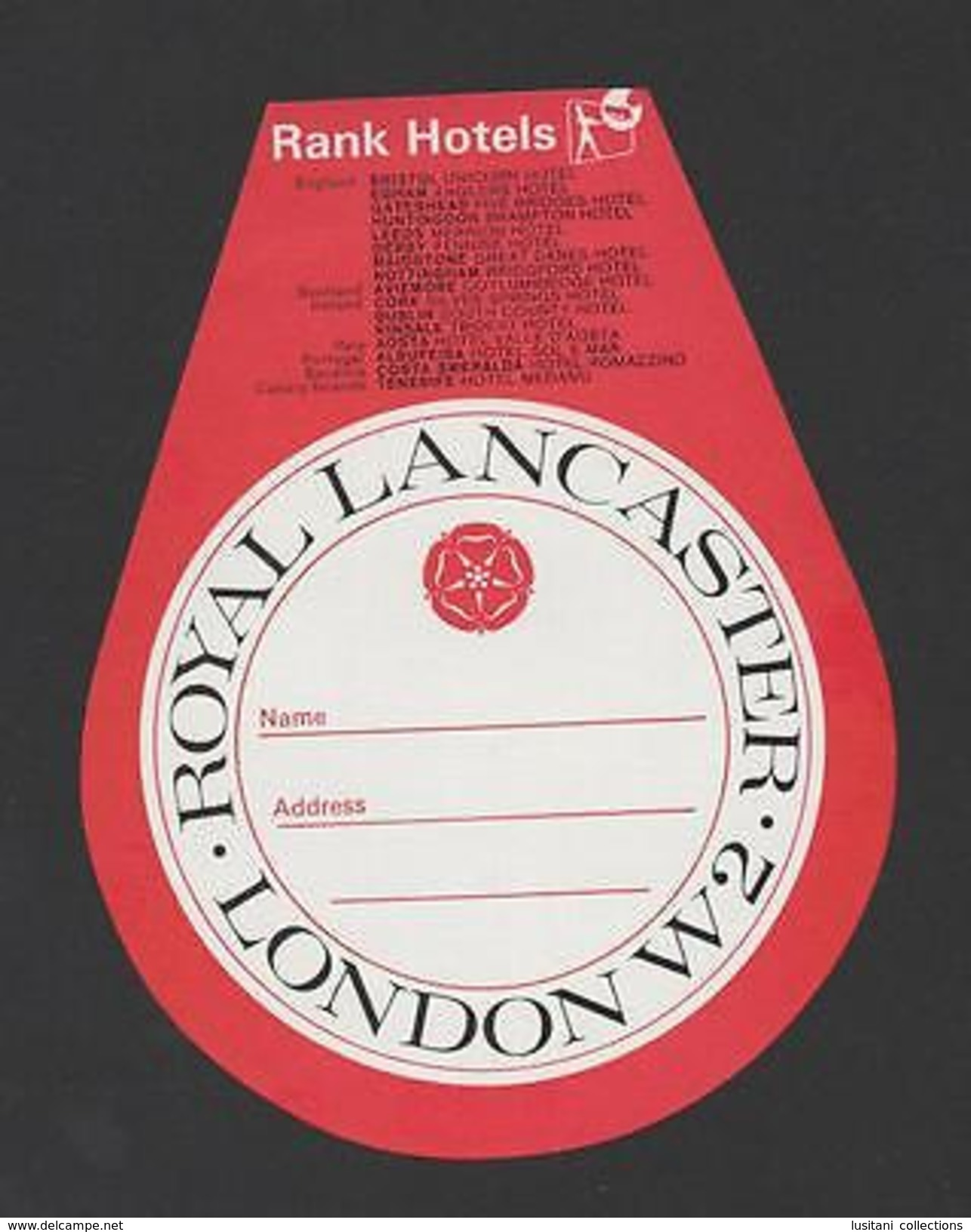 LUGGAGE LABEL HOTELS HOTEL  LONDON ENGLAND PORTUGAL IRELAND SCOTLAND ITALY SPAIN - Unclassified