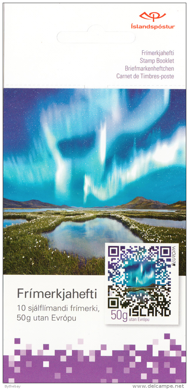 Iceland 2012 Booklet Of 10 Northern Lights In QR Code EUROPA - Carnets