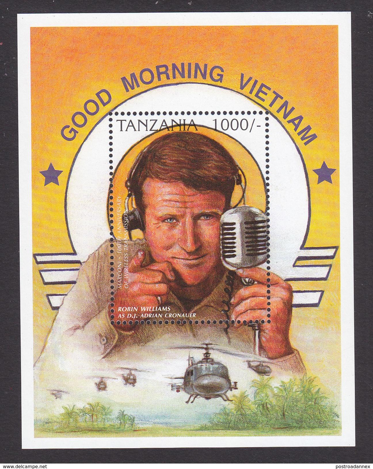 Tanzania, Scott #1503, Mint Never Hinged, Robin Williams, Issued 1996 - Tanzanie (1964-...)