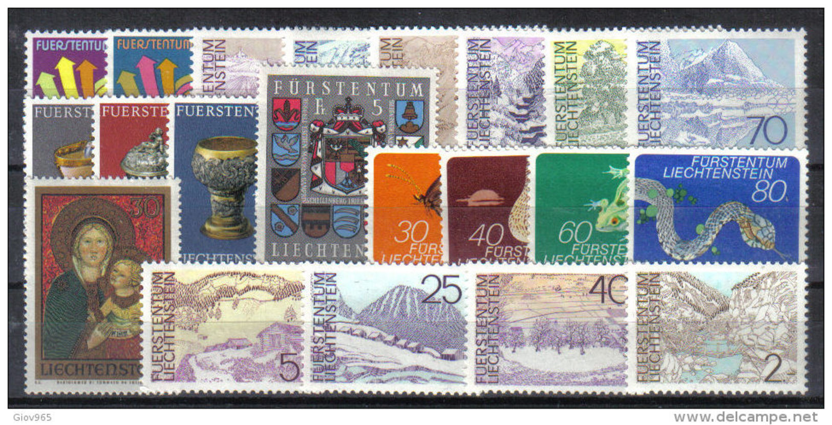 LIECHTENSTEIN  Xx  1973   ANNATA  COMPLETA     -  Postfrisch  -   Vedi  Foto ! - Liechtenstein