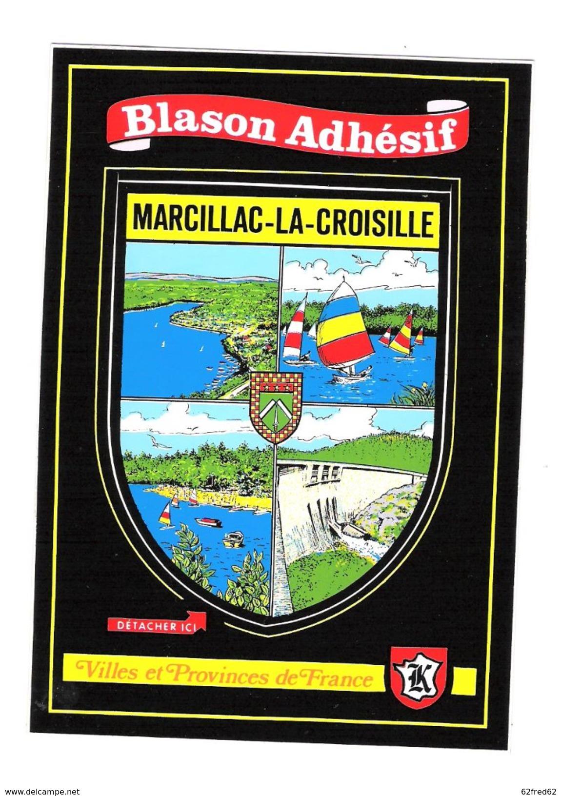 BLASON ADHESIF - MARCILLAC LA CROISILLE - France