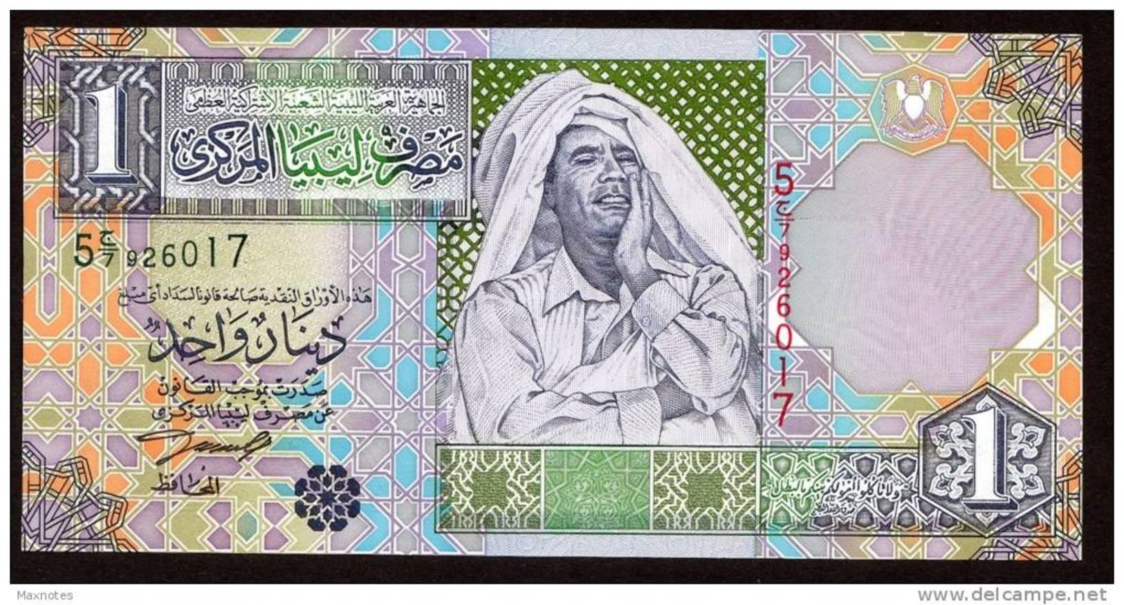 LIBIA (LIBYA) : Banconota 1 Dinaro - 2002 - P64a – UNC - Libye