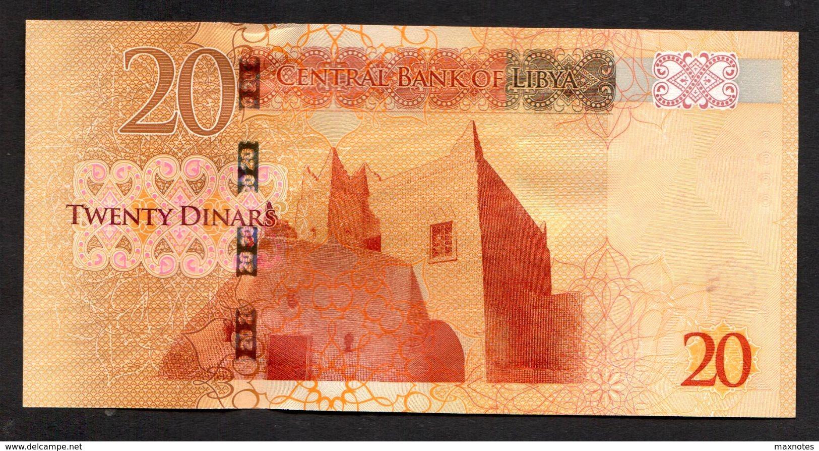 LIBIA (LIBYA) :  20 Dinars, ND (2016) Pnew - Libye