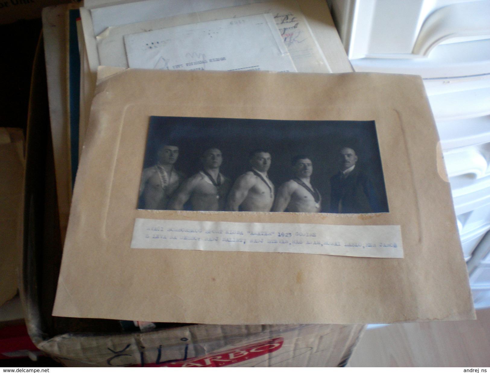 Wrestling Photo Sombor Zombor  Sportski Klub Amater 1923  Nadj Balint, Nadj Stevan, Has Adam, Ronai Laszlo, Hen Janos - Altri