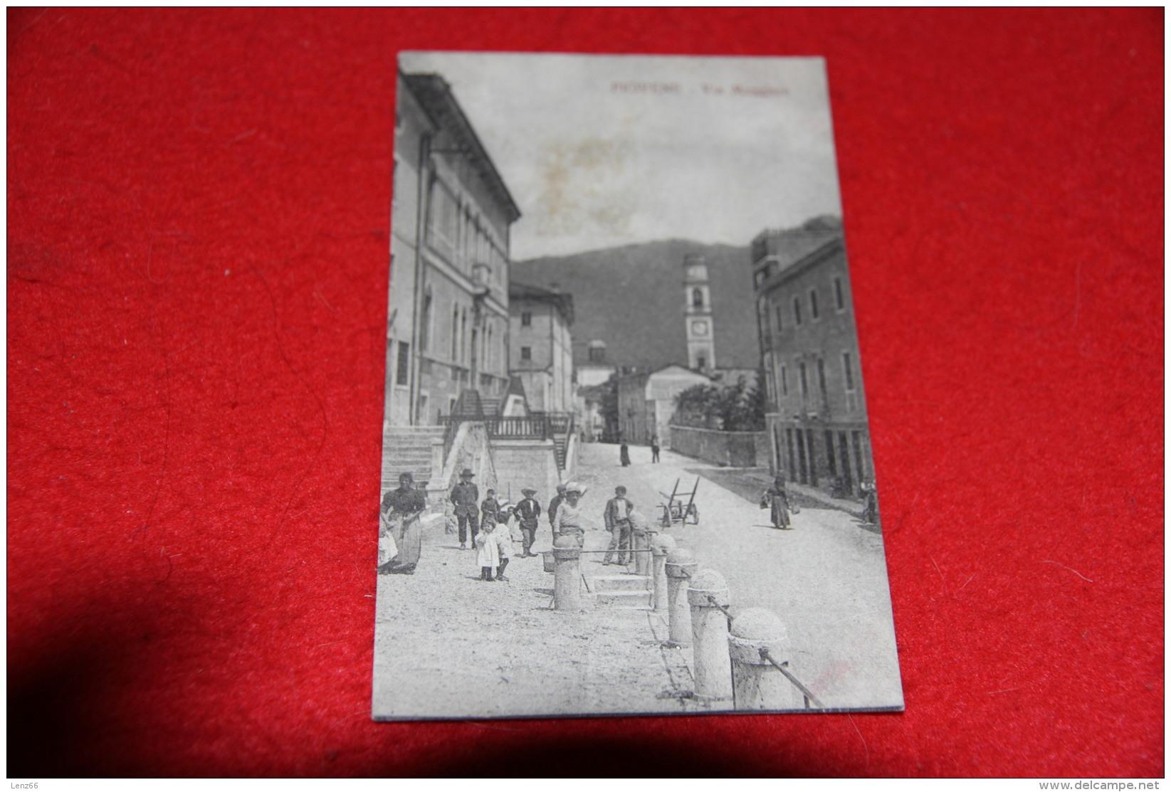 Piovene Vicenza Via Maggiore 1918 Ed. Zannini Bella Animazione - Vicenza