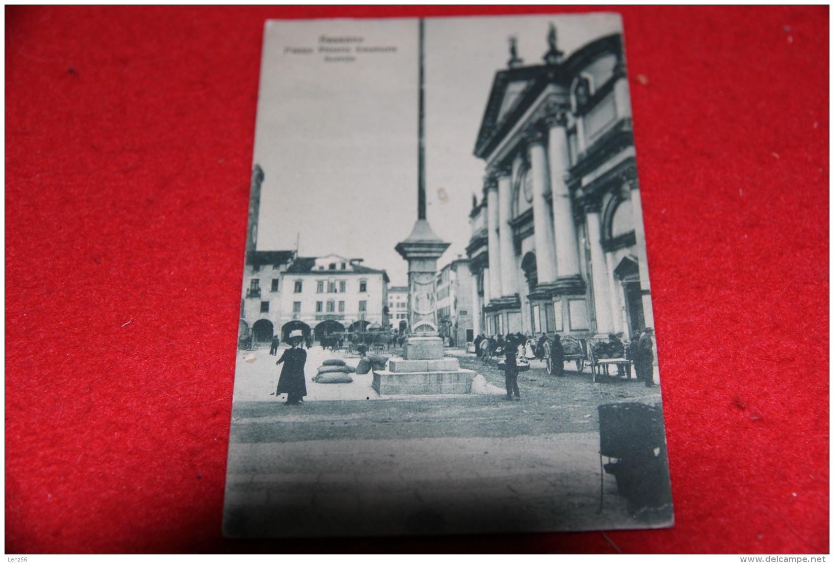 Bassano Del Grappa Vicenza Scorcio Di Piazza Vittorio Emanuele 1918 Bella Animazione - Vicenza