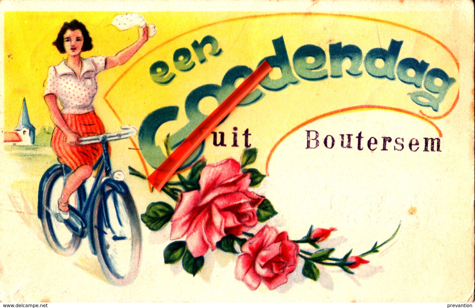 Een Goedendag Uit BOUTERSEM - Carte Colorée - Boutersem