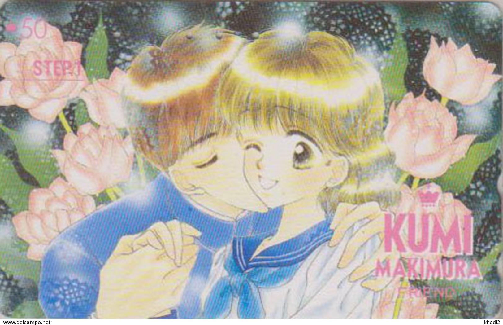 Télécarte Japon / 110-011 - MANGA - FRIEND By KUMI MAKIMURA * STEP 1 * - ANIME Japan Phonecard - BD COMICS TK - 9653 - BD