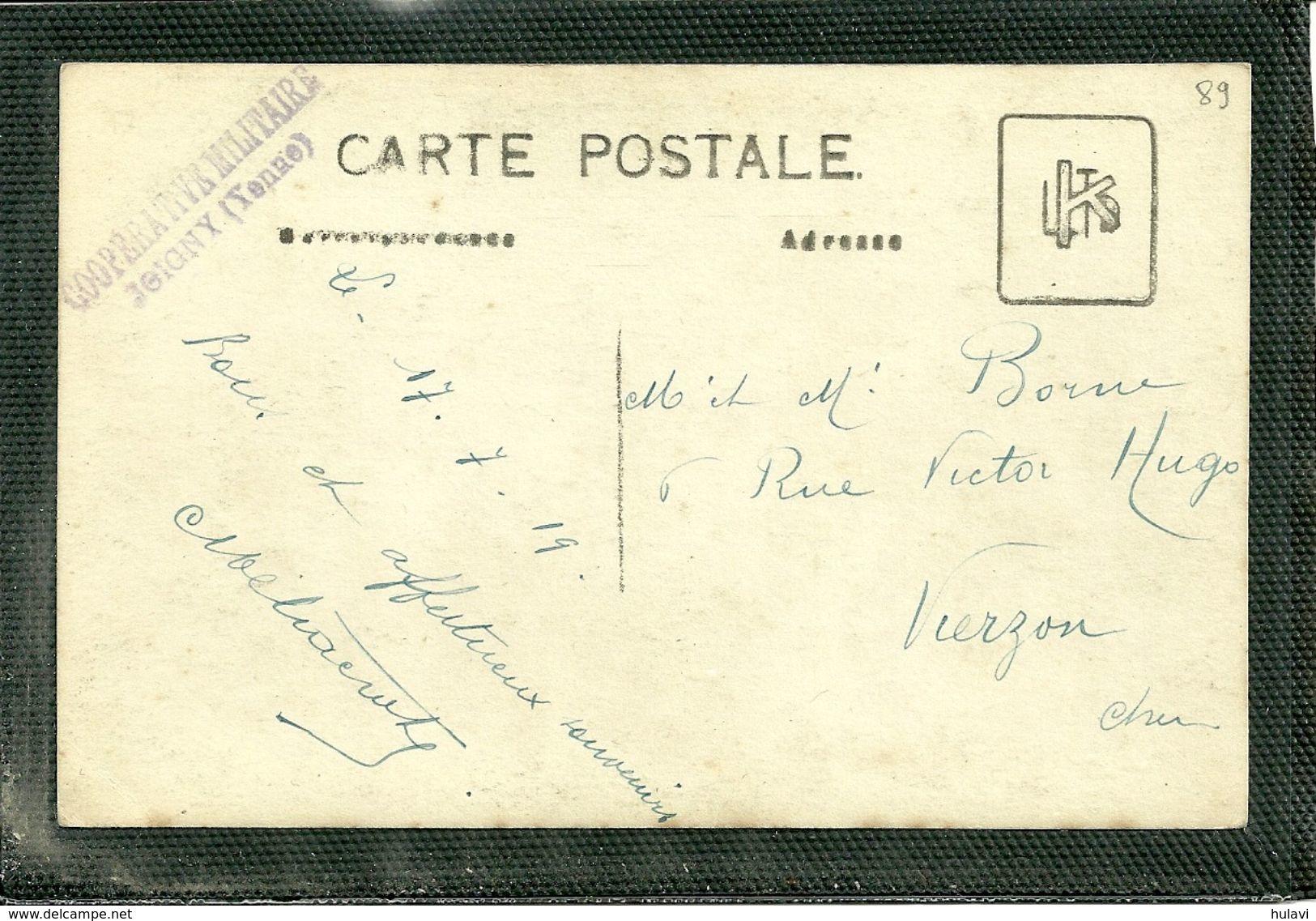 89  JOIGNY - CARTE PHOTO - COOPERATIVE MILITAIRE (ref 8695) - Joigny