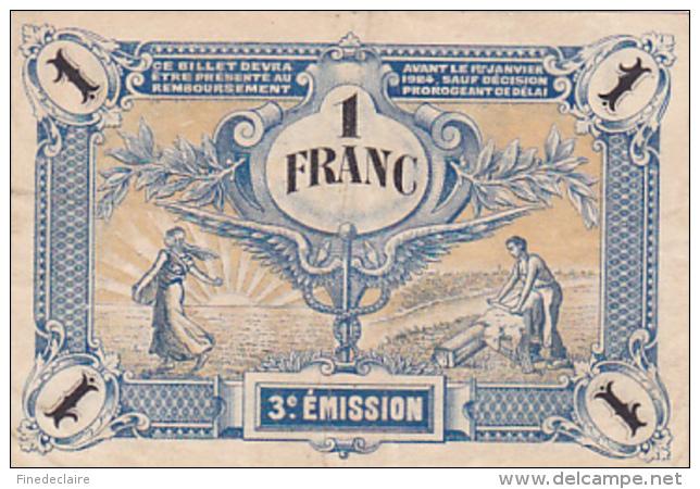 Chambre De Commerce Des Deux-Sèvres - Un Franc - Série 45 - 13 Novembre 1920 - Sans Filigrane - Chambre De Commerce