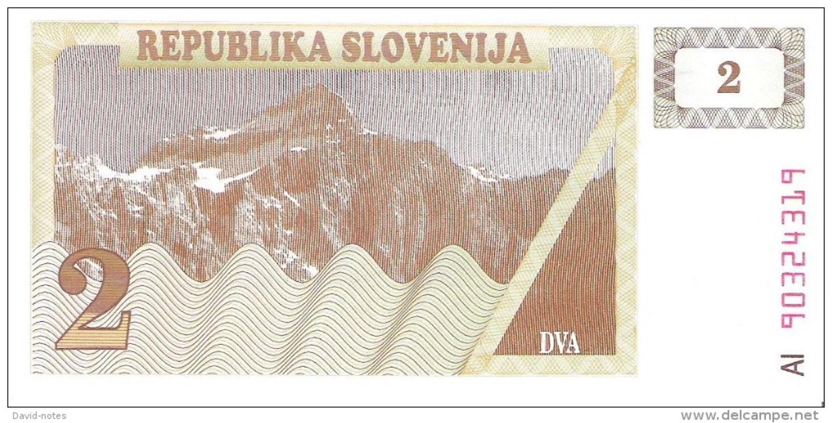 Slovenia - Pick 2 - 2 Tolarjev 1990 - Unc - Slovénie