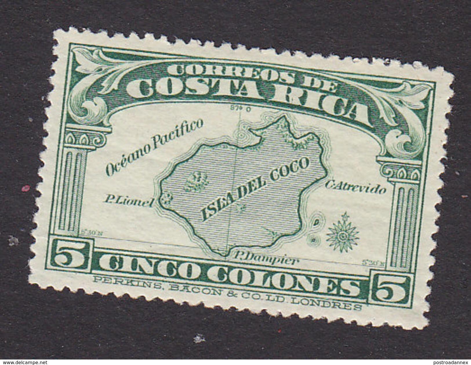 Costa Rica, Scott #176, Mint No Gum, Map, Issued 1936 - Costa Rica
