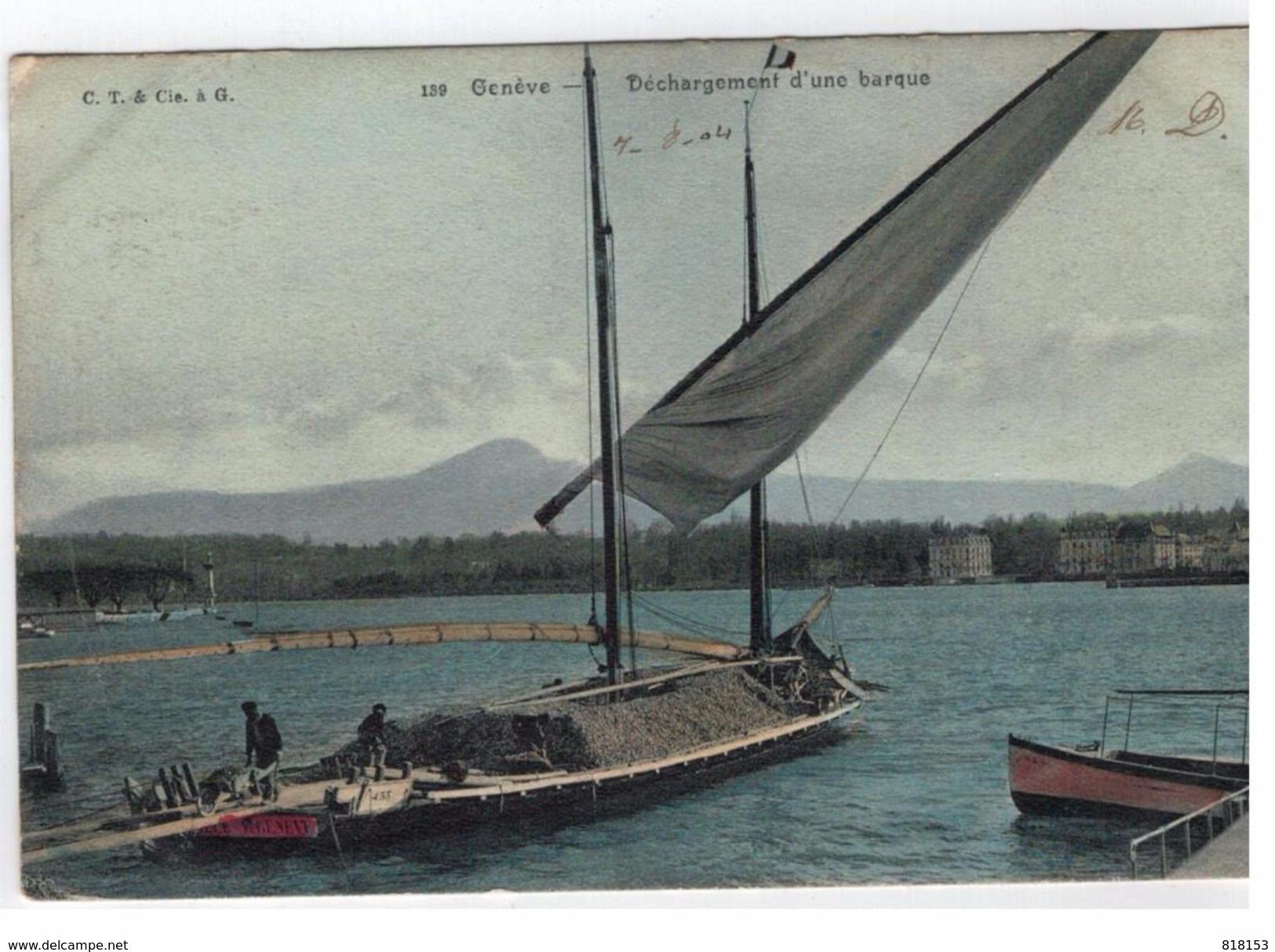 139. Genève - Déchargement D'une Barque - GE Geneva