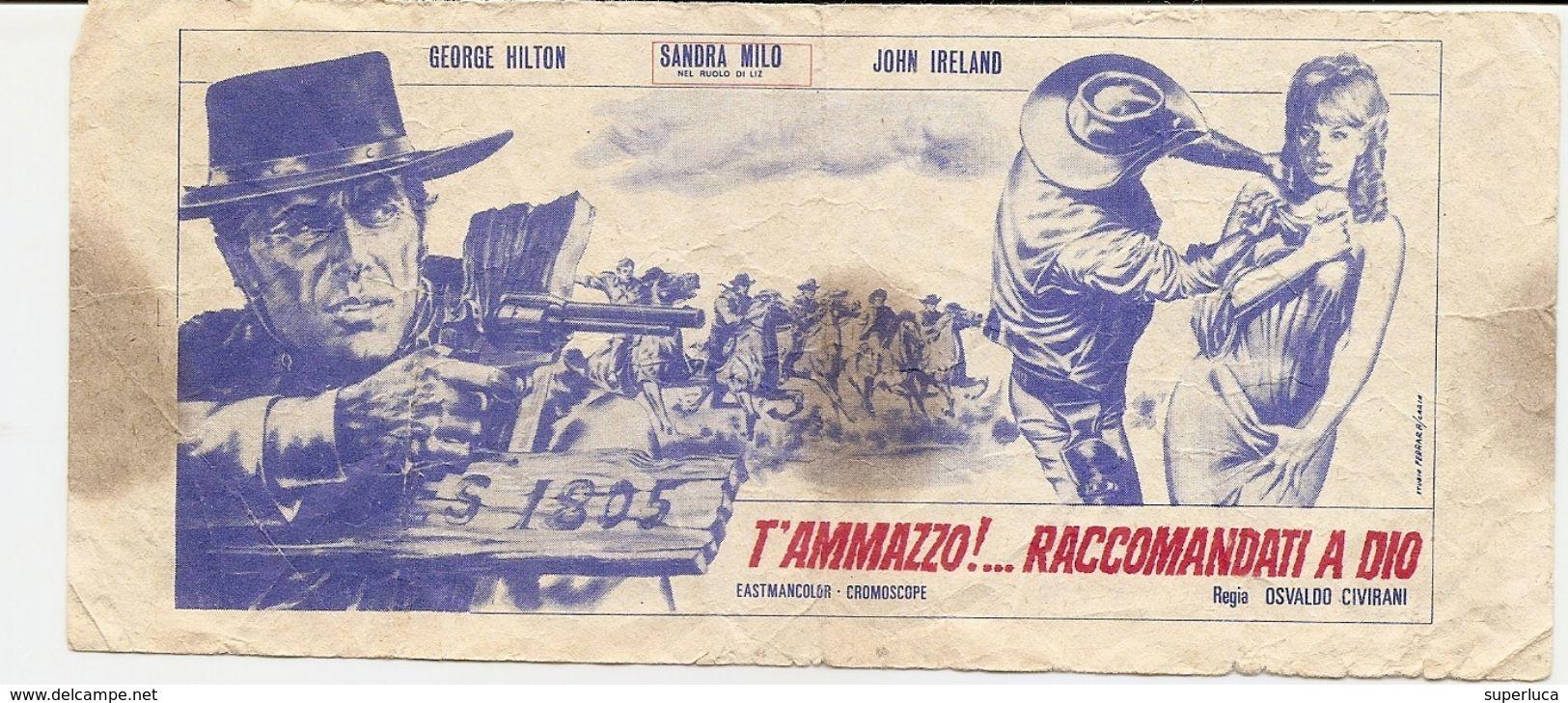 3-PUBBLICITA FILM T'AMMAZZO!...RACCOMANDATI A DIO-AL RETRO DI 1000 DOLLARI US - Pubblicitari