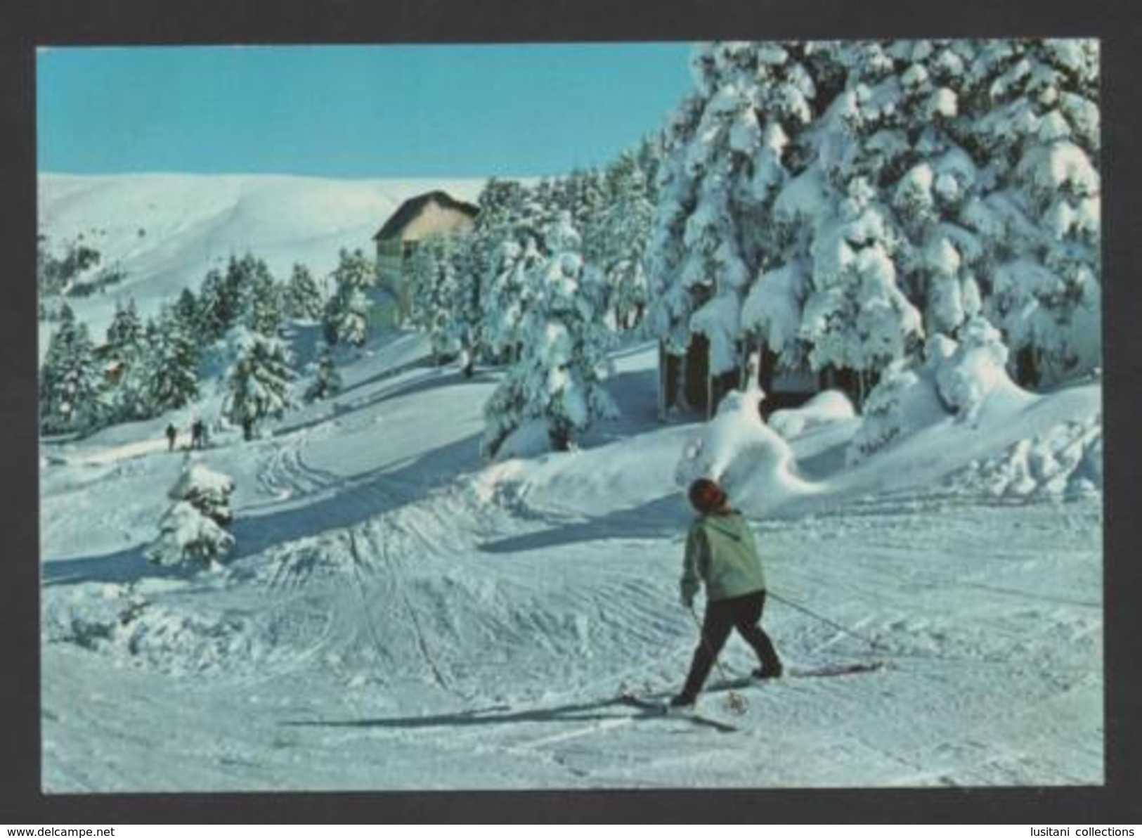 Postcard TURKEY TURQUIE A. YESIL BURSA ULUDAG &  SKIY SKIING WINTER SPORTS 1960s - Unclassified