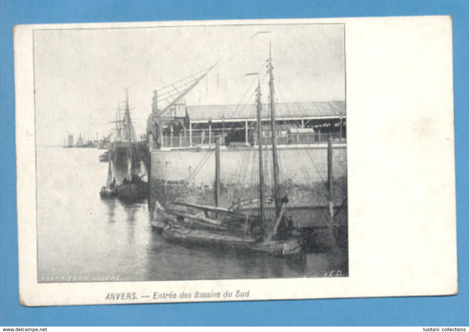 POSTCARD BELGIUM ANVERS BOAT SAILING SHIP YEAR 1900 PC BELGIQUE - Postcards