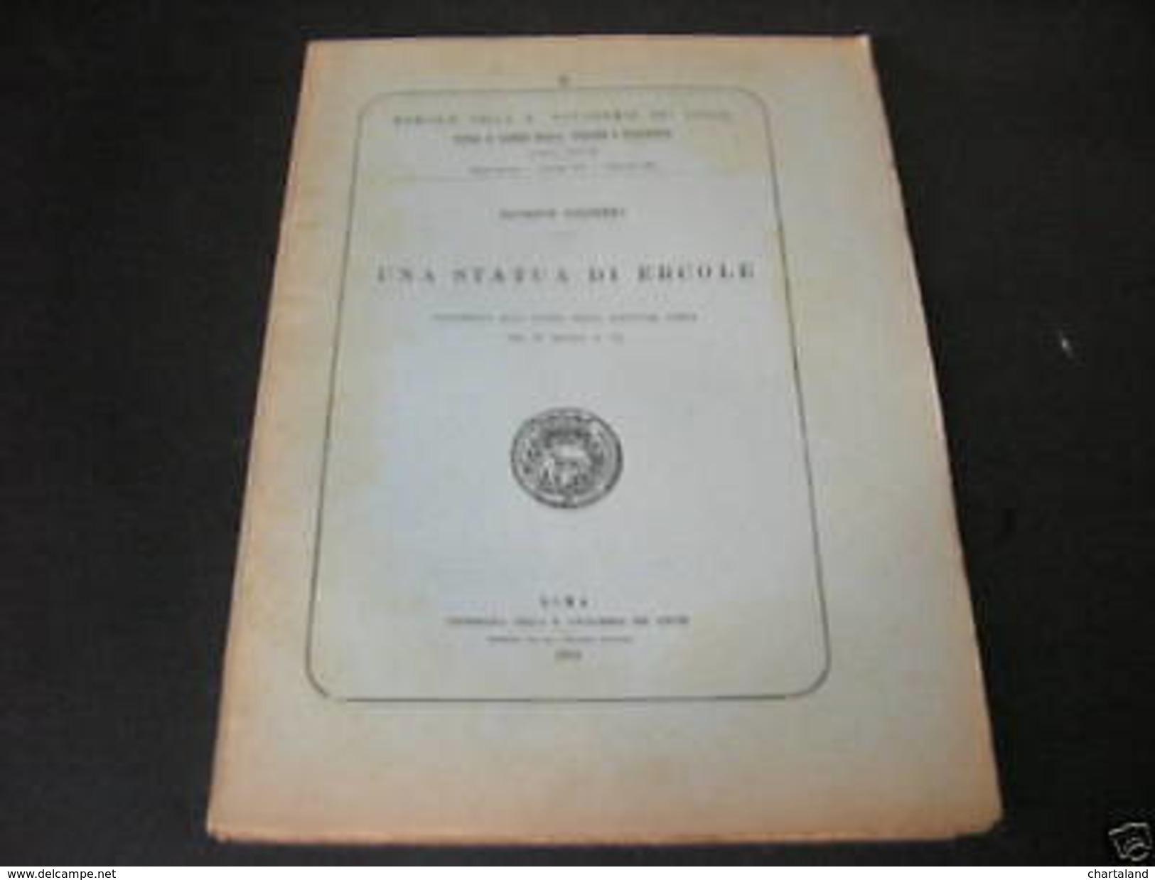 Archeologia Grecia Scultura - G. Cultrera - Una Statua Di Ercole - 1^ Ed. 1910 - Libri, Riviste, Fumetti