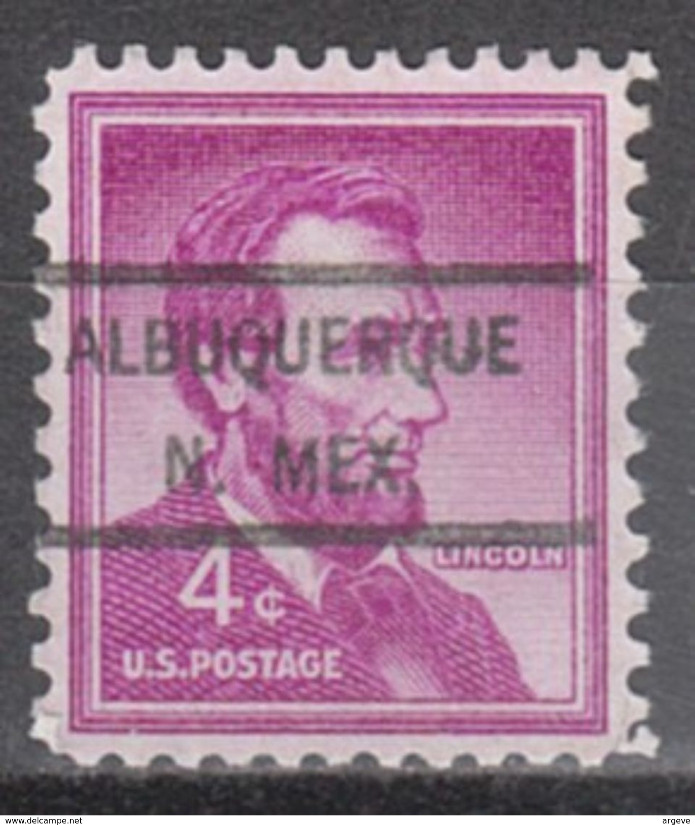 USA Precancel Vorausentwertungen Preo, Locals New Mexico, Albuquerque 825 - Vereinigte Staaten