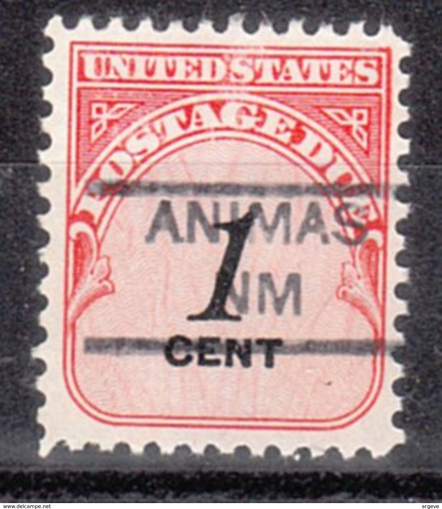 USA Precancel Vorausentwertungen Preo, Locals New Mexico, Animas 852 - Vereinigte Staaten
