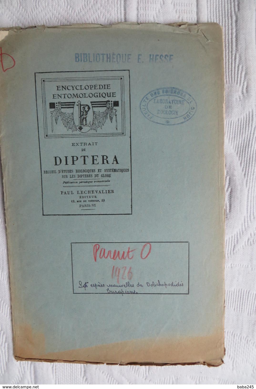 ABBE O PARENT 7 ESPECES NOUVELLES DE DOLICHOPODIDES 1926 - Sciences & Technique