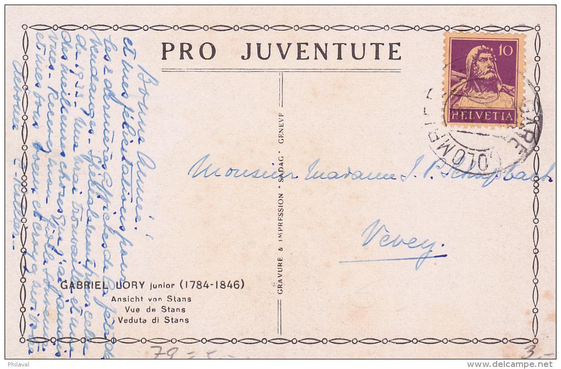 Carte Pro Juventute No 79 - Vue De STANS - Pro Juventute
