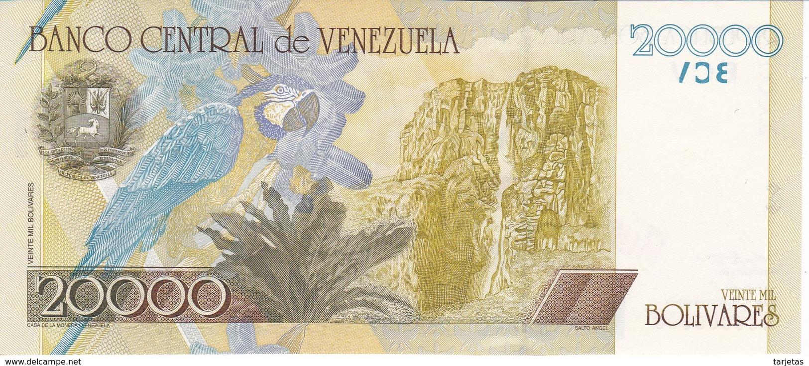 ESPECIMEN -BILLETE DE VENEZUELA DE 20000 BOLIVARES DEL AÑO 2001 SIN CIRCULAR - UNCIRCULATED (SPECIMEN) (BANKNOTE) - Venezuela