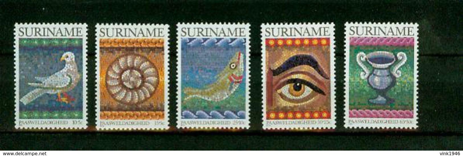 Suriname Surinam 1983, 5V,birds,vogels,oiseaux,vögel,oiseaux,pajaros,aves,uccelli , MNH/postfris(D2057) - Oiseaux