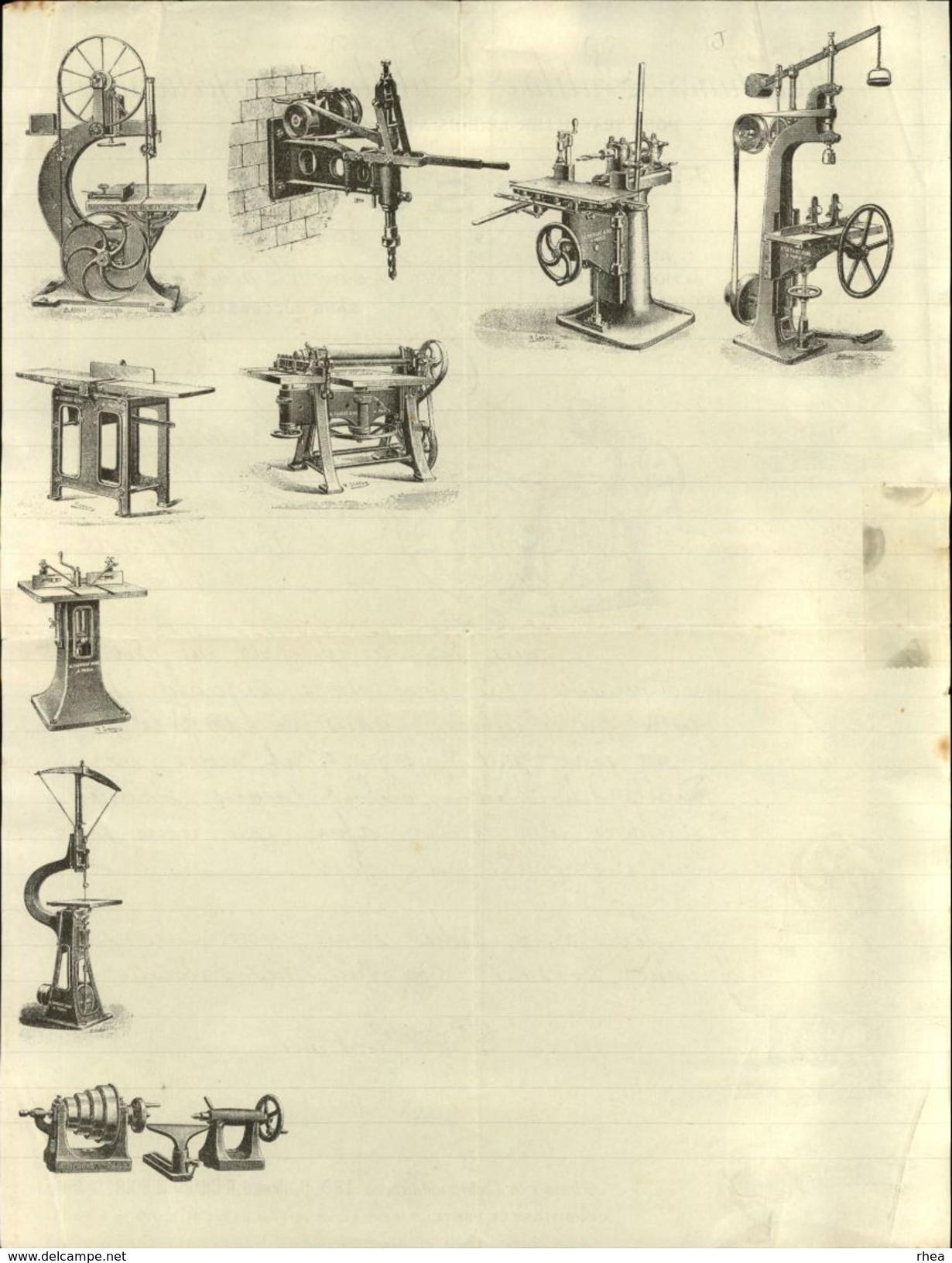 75 - PARIS - FACTURE - Machines Outils A. Tiersot - Ateliers De Montapeine à Coulommiers - France
