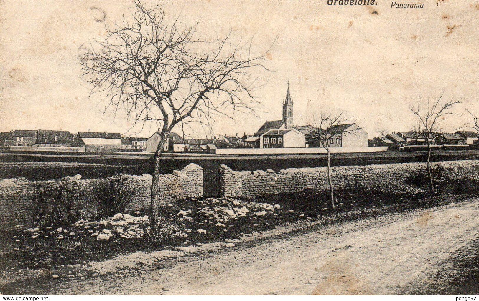 Cpa GRAVELOTTE, Panorama, Totalsicht,  (53.21) - Autres Communes