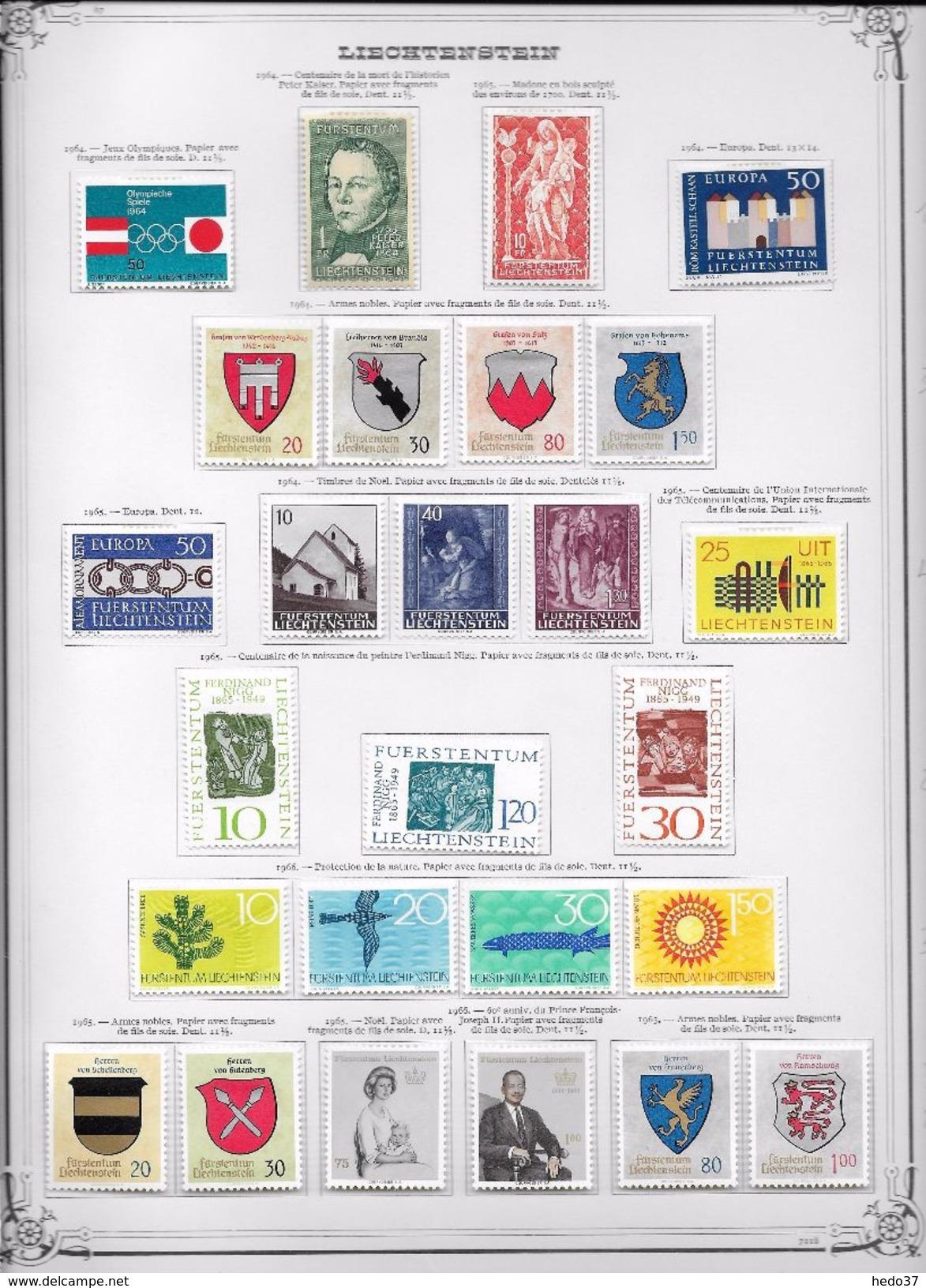 Liechtenstein - Collection Vendue Page Par Page - Timbres Neufs * Avec Charnière - TB - Liechtenstein