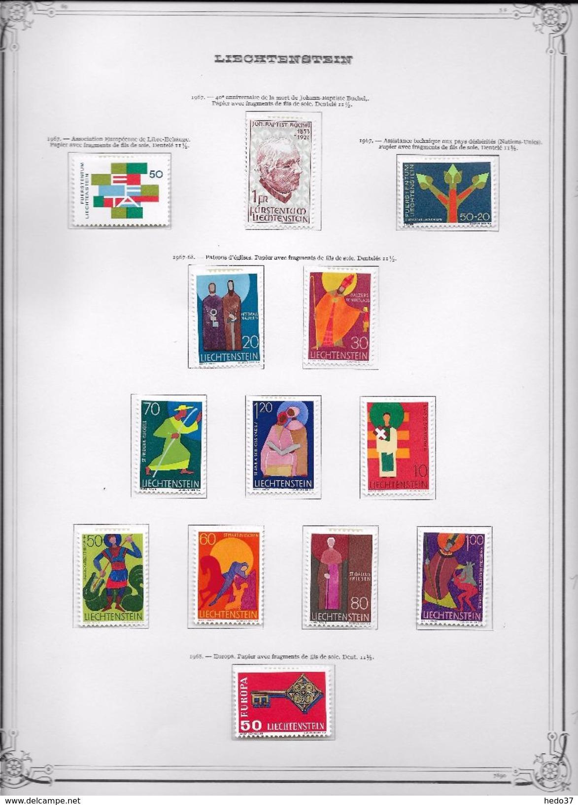 Liechtenstein - Collection Vendue Page Par Page - Timbres Neufs * Avec Charnière - TB - Collections
