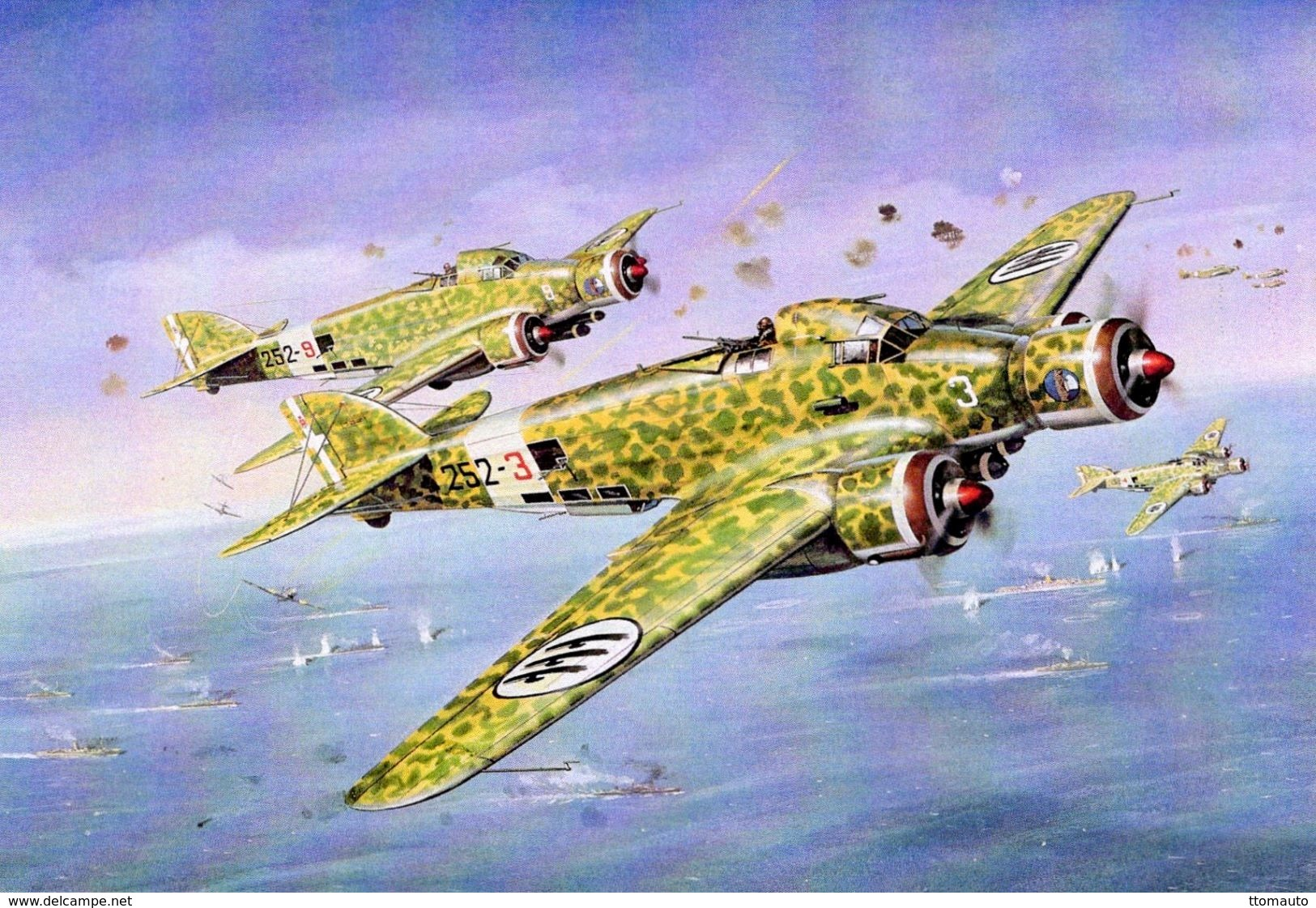 Savoia-Marchetti SM79 (Italian Air Force)  -  Art Card  -  CPM - 1939-1945: 2ème Guerre