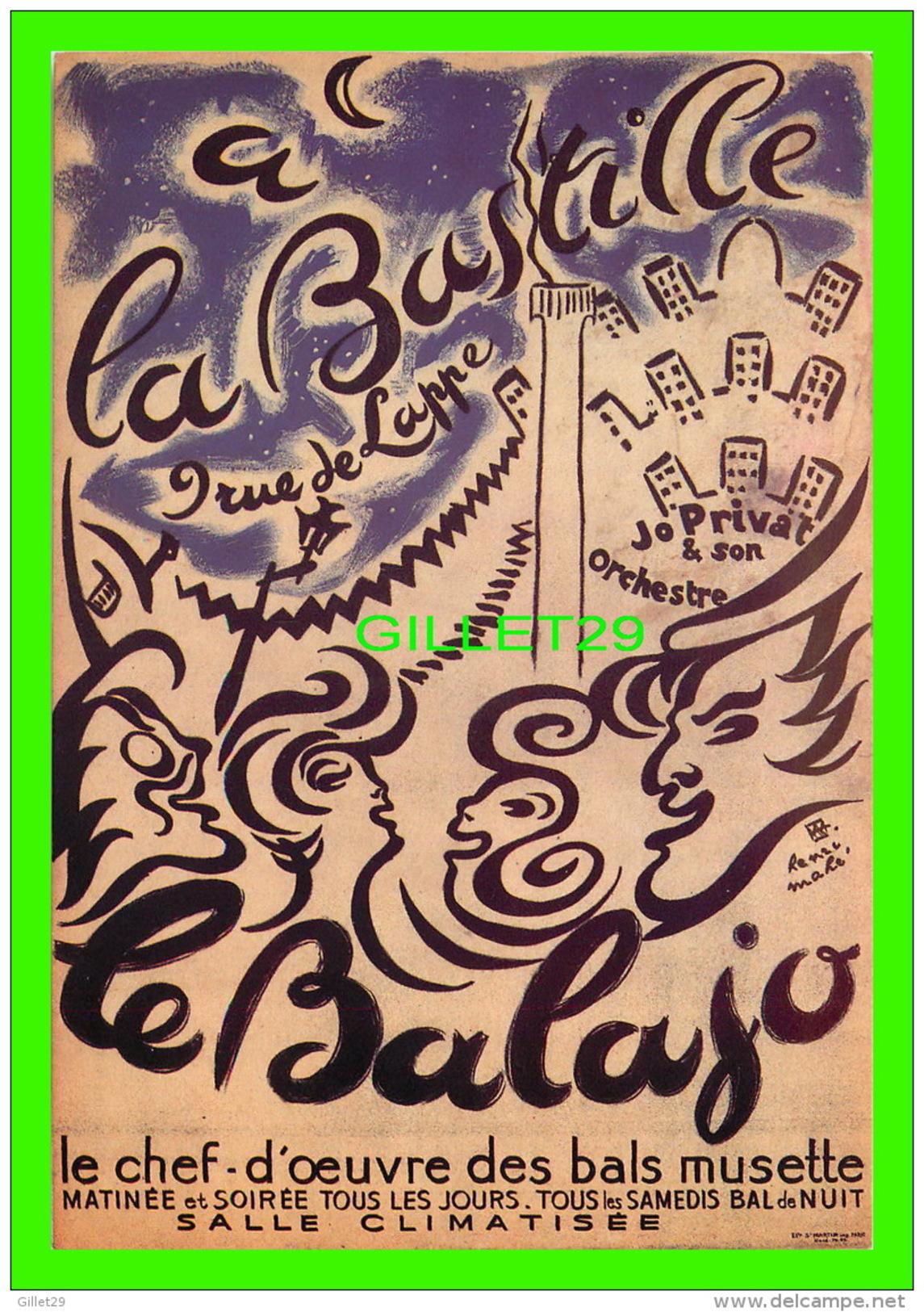 ADVERTISING - PUBLICITÉ - AFFICHE DU BALAJO PAR HENRI MAHÉ EN 1940 - COLLECTION ROBERT SANTIAGO - - Publicité