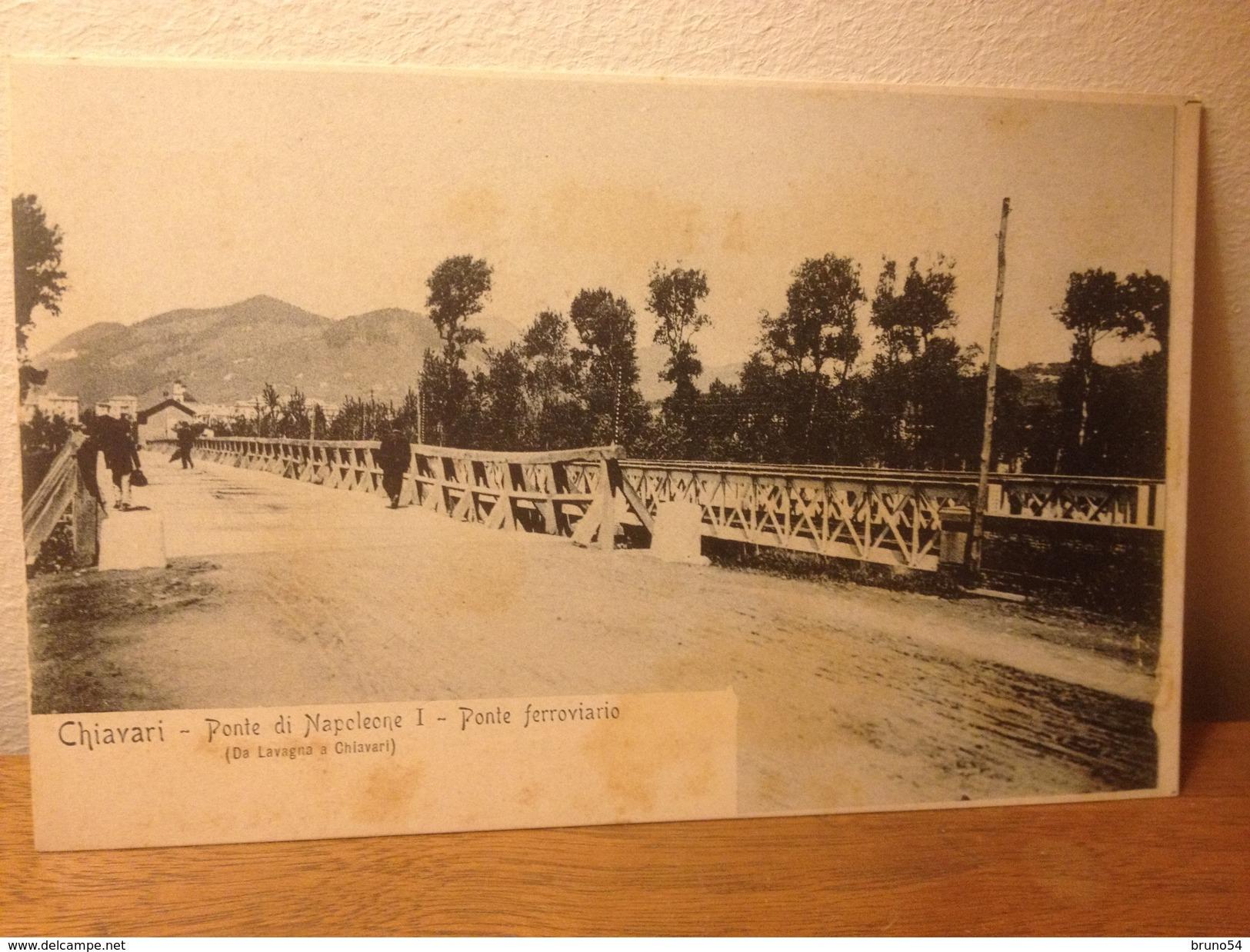 Cartolina Chiavari Genova Ponte Di Napoleone  Ponte Ferroviario  Formato Piccolo Non Viaggiata Primi Novecento - Italie